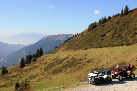 Motorsport in the mountains - With two quads in the mountains photo