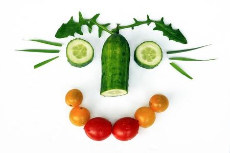 健康に良い食べ物は美味しいが楽しくて 写真素材