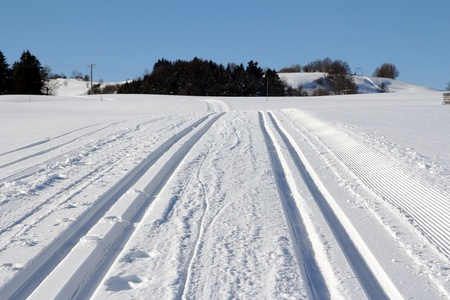 Cross-country skiing in winter Bavaria photo