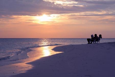 Enjoy the sunset on sea