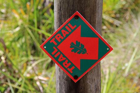 Der Trail-Zeichen