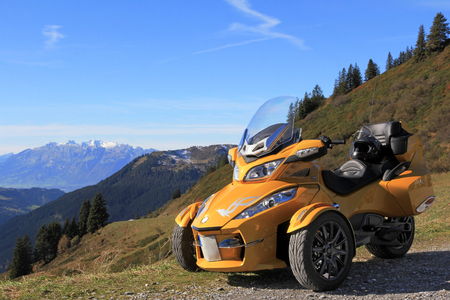 With the Spyder in the mountains of Austria