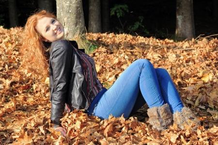 lie forward: Enjoy the autumn sun
