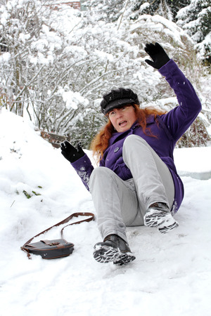 Risk of accidents on winter slippery roads