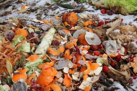 basura organica: Una monta�a de residuos grande en invierno