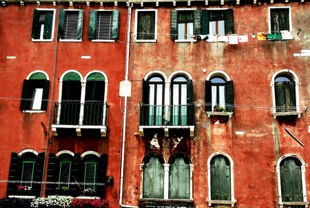 Building facade in Venice Stock Photo