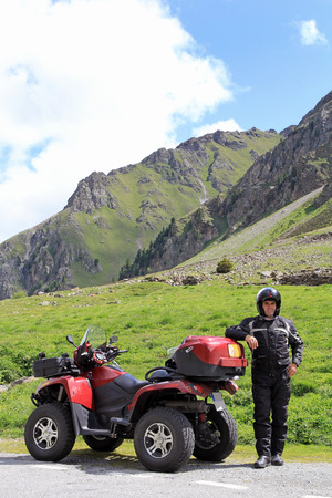 With the ATV on the way in the area photo