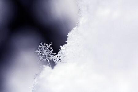 Close-up van een sneeuwvlok