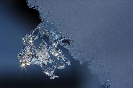 겨울철 얼음 조각