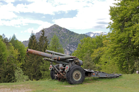nota: Italian cannon from World War 1 on the Passo Nota