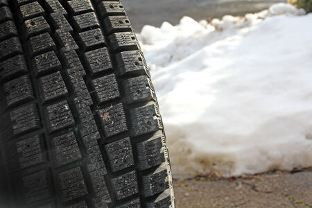 winter tires: Good winter tires are important Stock Photo