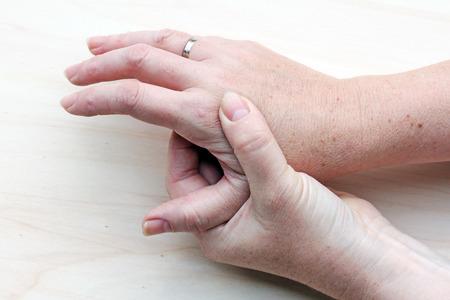 pijnlijke handen