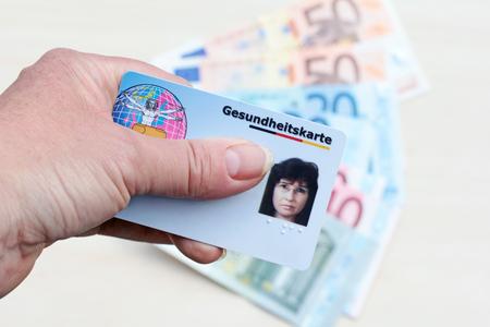 독일의 건강 카드 스톡 콘텐츠