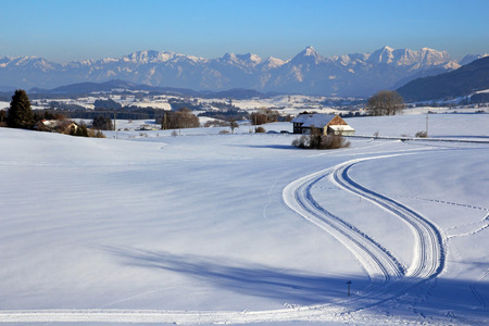 t ski: cross-country ski trail in Bavaria (Germany)