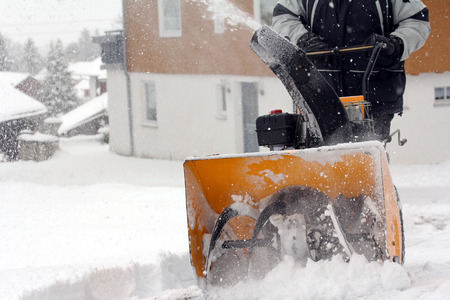 blowers: snow clearing in the winter