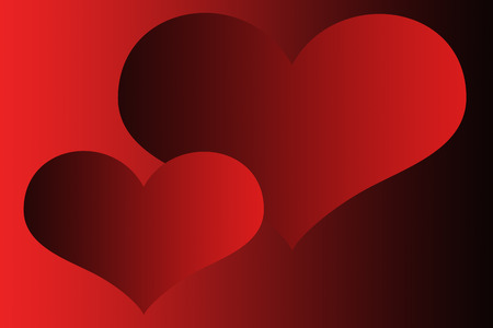cordiality: Two red hearts on red-black background. Wallpapers two hearts