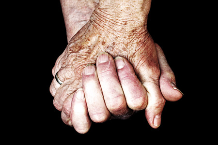 nursing care are for seniors: A Helping Hand in old age. The hands of two old women