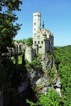 fairytale castle: The Lichtenstein castle in Baden Wrttemberg. The fairytale castle Wrttemberg