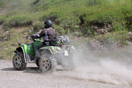 quad: Motorsport with the quad on to off-road Editorial