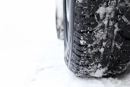 Good winter tires are important in snow on the road
