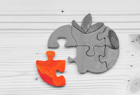 inappropriate: The missing puzzle piece or other types of part Stock Photo