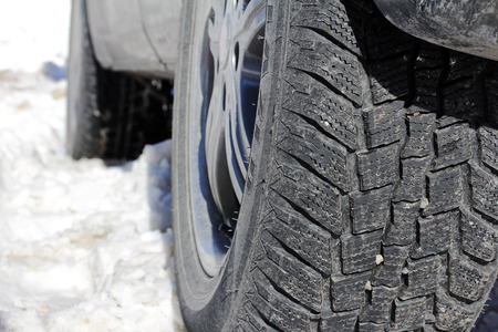 winter tires: Winter tires of a car - Good winter tires are important