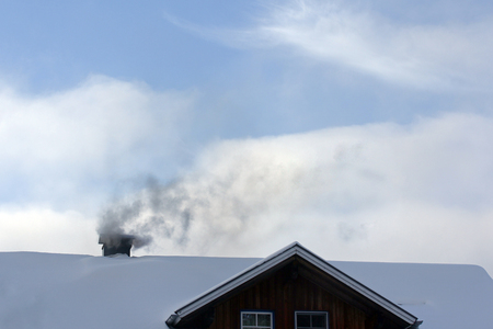 soot: Timber heating - pollutant and soot from the fireplace