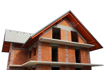 brick house: The shell of a house  new building a brick house