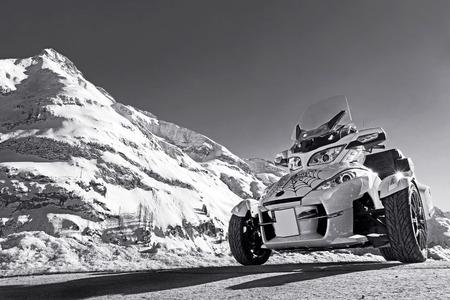 motorsports: Motorsports in winter. The Can Am Spyder in winter