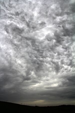 storm coming: Storm clouds in the sky. A storm is coming
