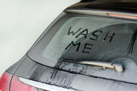 Wash Me - A very dirty car in winter