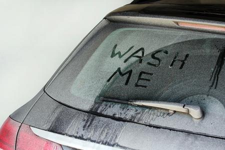 Was me - een vuile auto in de winter
