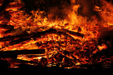 believes: A great fire dangerous. A big fire Stock Photo