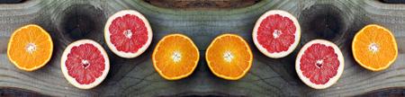 Grapefruit and oranges are healthy, tasty fruits Reklamní fotografie