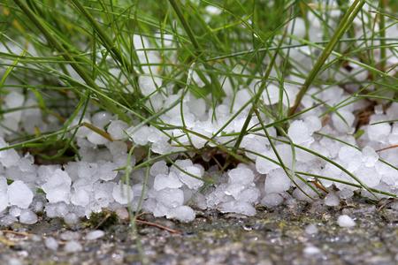 A violent, dangerous storm with hail Standard-Bild