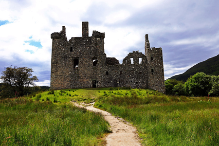 The ruins of Kilchurn Castle on Loch Awe in the Higlands of Scotland