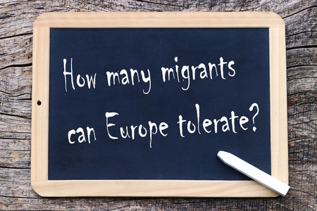How many migrants can tolerate Europe? Reklamní fotografie