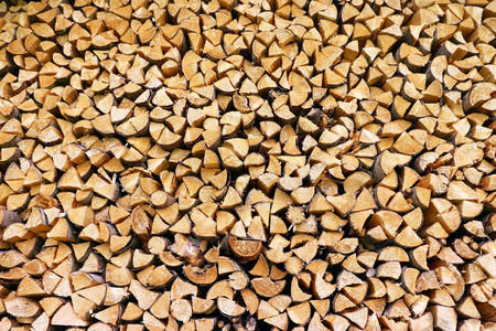 A big stack of firewood Stock Photo