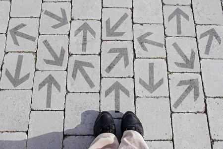 Everyone has to make decisions. Many different ways to make a decision Banco de Imagens