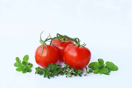 Tomatoes, thyme and oregano.