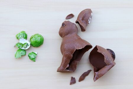 At Easter, chocolate Easter bunnies and Easter eggs are eaten