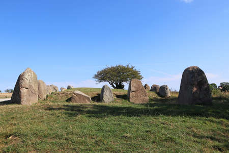 The Neolithic megalithic tomb Nobbin on the German island of Rügen
