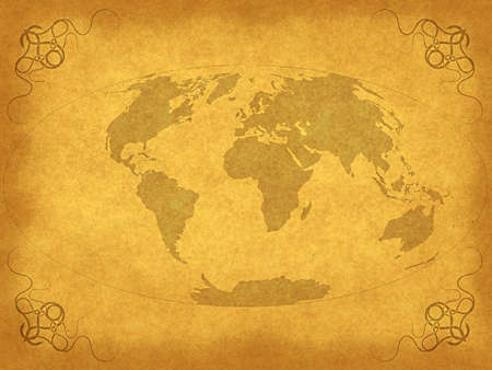 Vintage ancient map background  Stock Photo