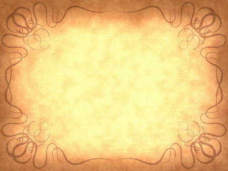 Old paper background with scratches and decorative frame