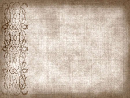 Old paper background with scratches and decorative element
