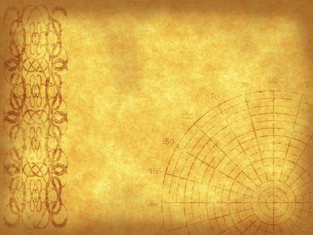 Old paper background with retro ornament and polar grid Stock Photo - 7583362