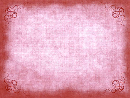 Old paper background with scratches and decorative elements Stock Photo