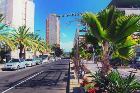 santa cruz de tenerife: Santa Cruz de Tenerife street view Editorial