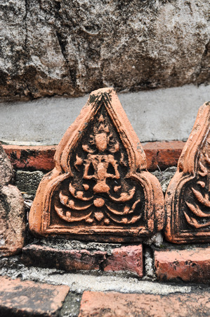 carved stone: Stripes carved stone