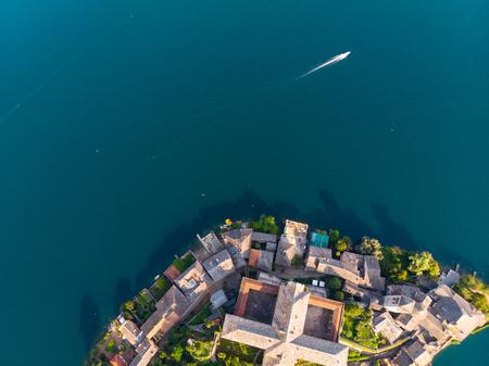 San Giulio Island by drone